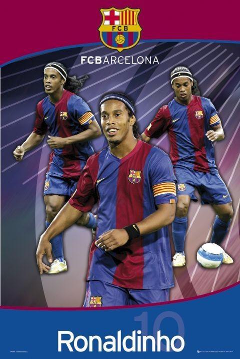 Plakat Barcelona - ronaldinho trio