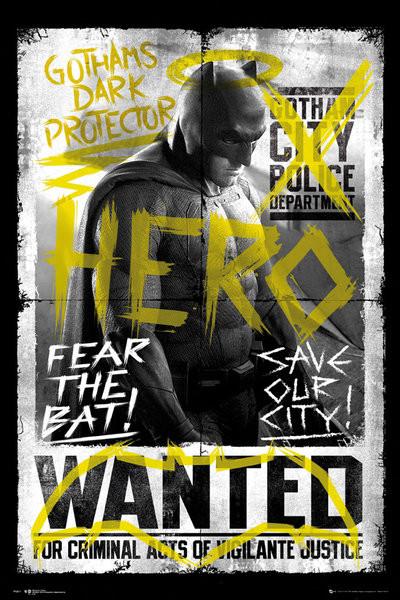 Plakat Batman v Superman: Dawn of Justice - Batman Wanted