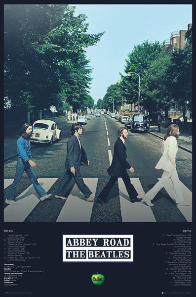 Plakat Beatles - Abbey Road Tracks