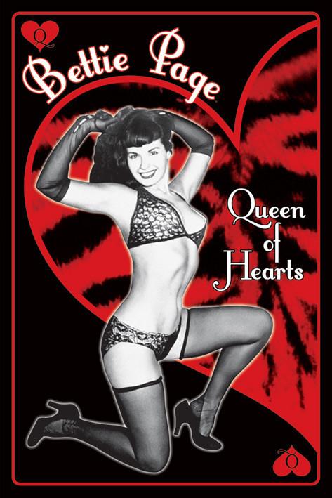 Plakat Bettie Page - queen of hearts