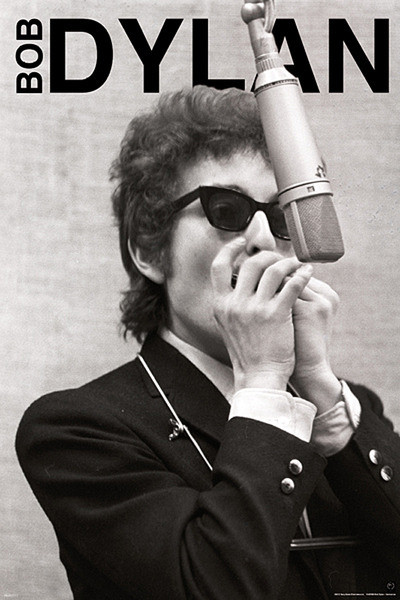 Plakat Bob Dylan - harmonica