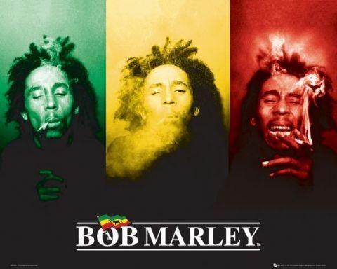 Plakat Bob Marley - flag