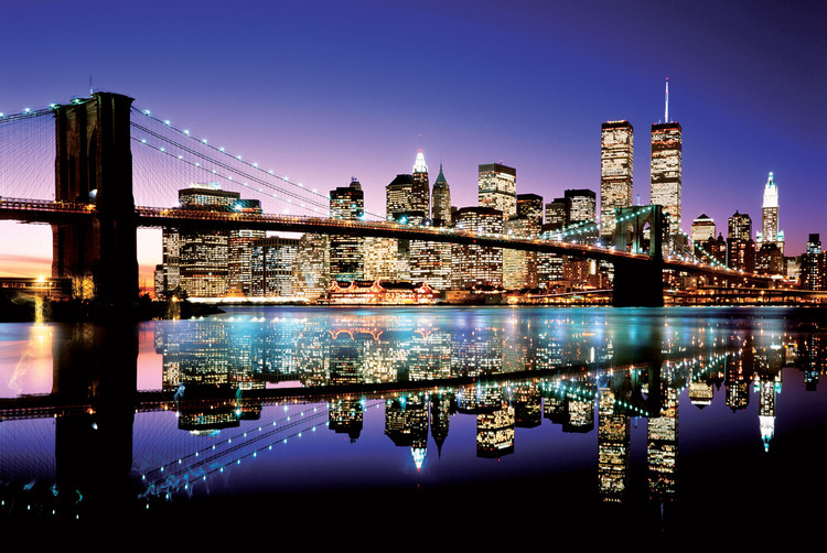 Plakat Brooklyn bridge - colour