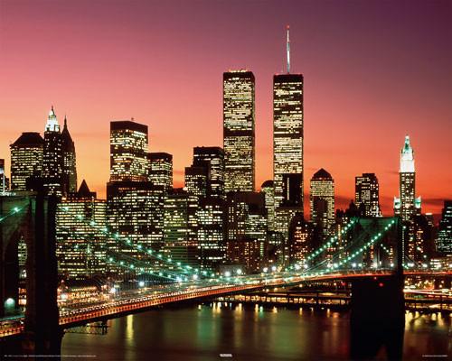 Plakat Brooklyn bridge - night