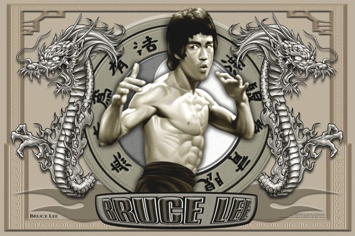 Plakat Bruce Lee - circles