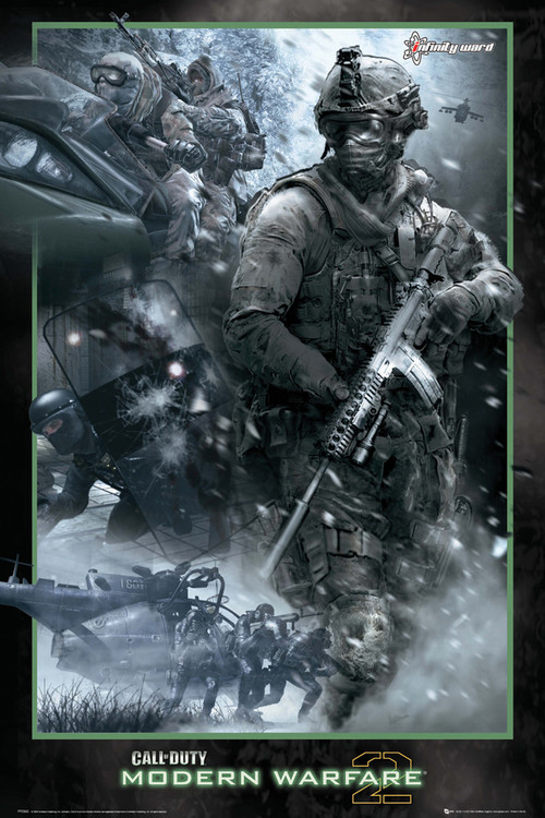 Plakat Call of Duty MW2 - collage