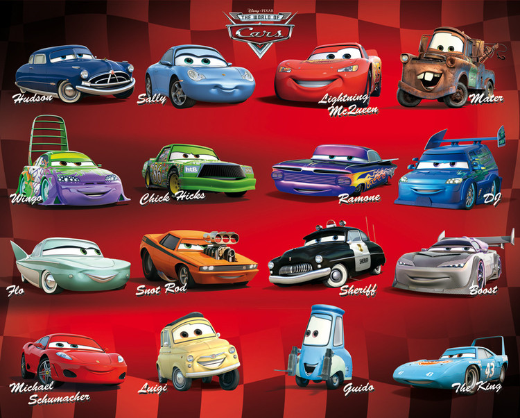 Plakat CARS - compilation
