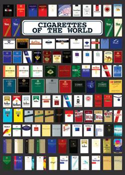Plakat Cigarette of the world