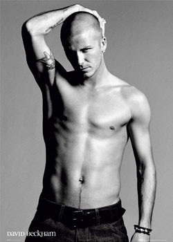 Plakat David Beckham - arm