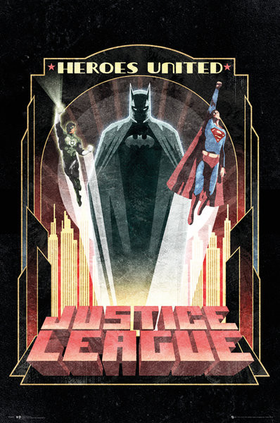 Plakat DC Comics - Batman Art Deco