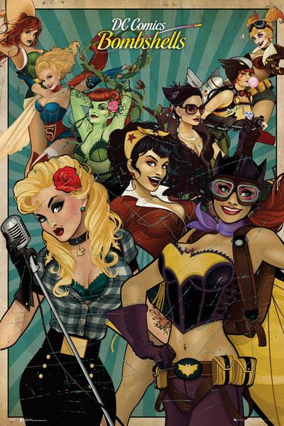 Plakat DC Comics - Bombshells