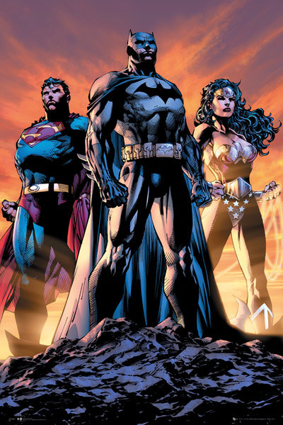 Plakat DC Comics - Justice league trio