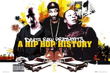 Plakat Death Row - Hip Hop history