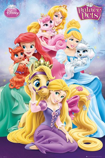 Plakat Disney Princess Palace Pets - Group