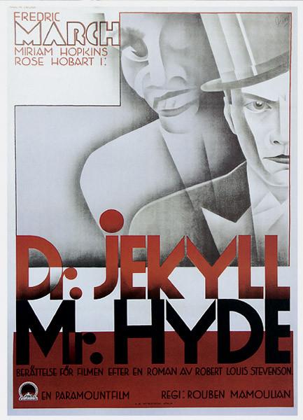 Plakat DOKTOR JEKYLL I PAN HYDE - Fredric March, Miriam Hopkins