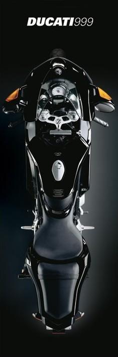 Plakat Ducati - black 999r