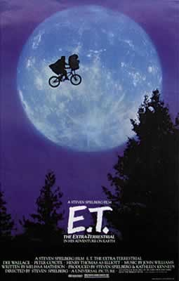 Plakat E.T. - american (moon & bike)