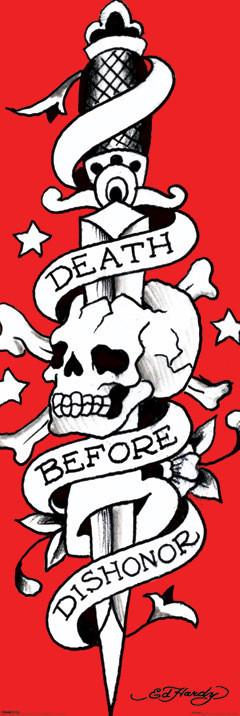 Plakat Ed Hardy - death before dishonor