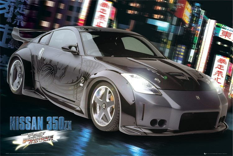 Plakat Fast and Furious - Nissan