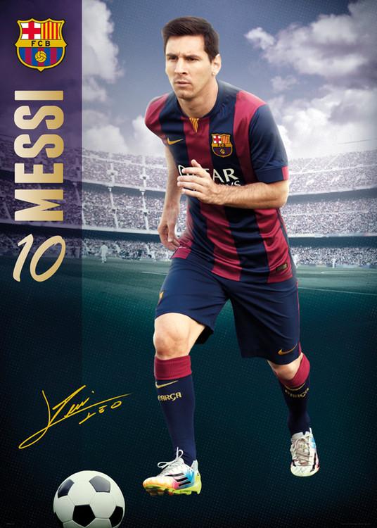 Plakat FC Barcelona - Messi 14/15
