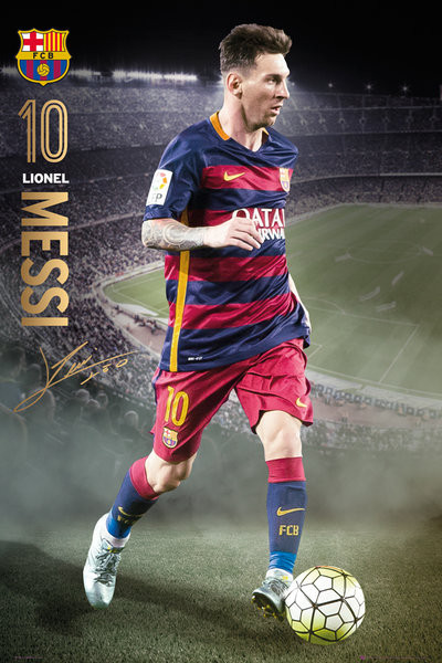 Plakat FC Barcelona - Messi Action 15/16