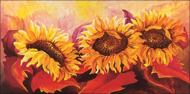 Reprodukcja Fire Sunflowers