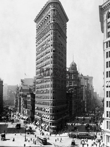Reprodukcja Flattron building in New York 1909