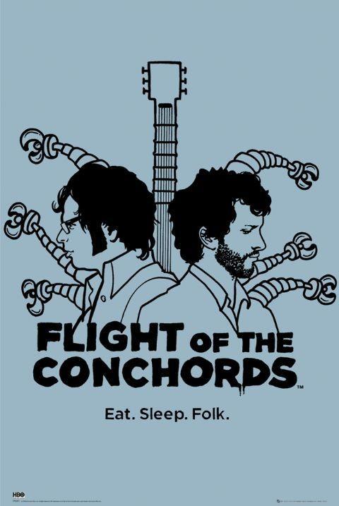 Plakat FLIGHT OF THE CONCHORDS - eat sleep folk