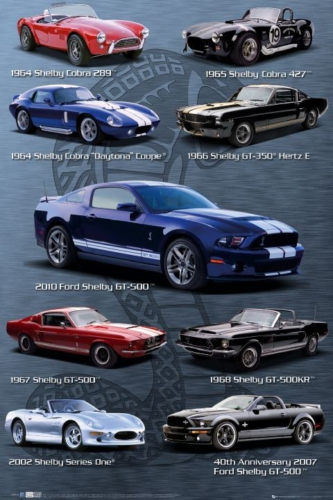 Plakat Ford Shelby Mustang - compilation