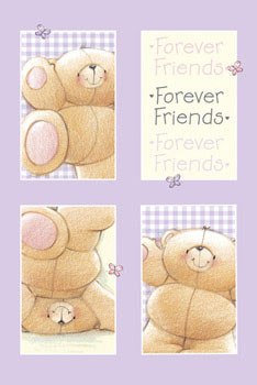 Plakat FOREVER FRIENDS - lilac