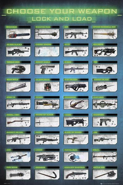 Plakat Gaming - choose your weapon