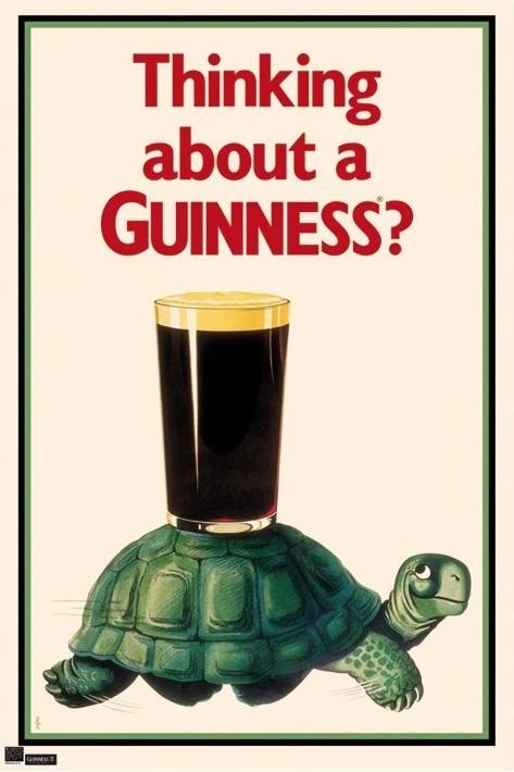 Plakat Guinness - tortoise