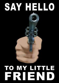 Plakat Gun - say hello...