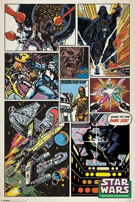 Plakat Gwiezdne wojny - Retro comic