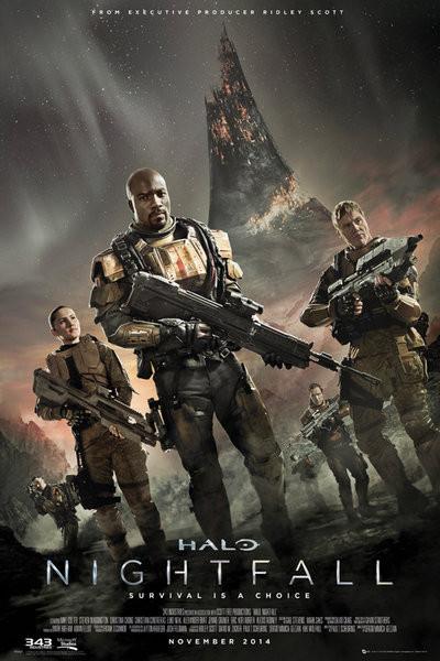 Plakat Halo: Nightfall - Key Art
