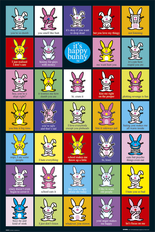 Plakat Happy Bunny - compilation