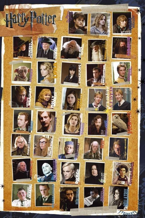 Plakat HARRY POTTER 7 - characters