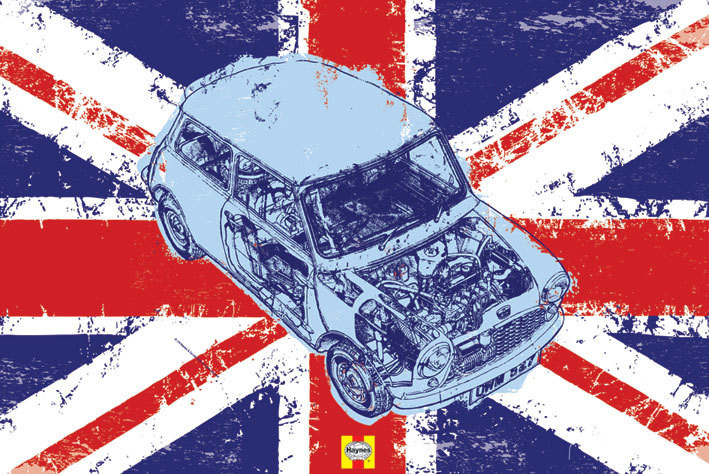 Plakat Haynes - mini union jack