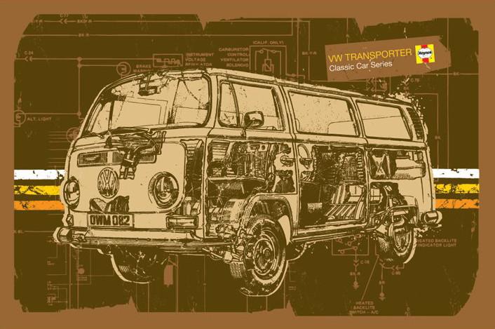 Plakat Haynes - VW Volkswagen transporter