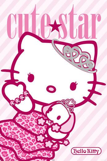 Plakat HELLO KITTY - cute star