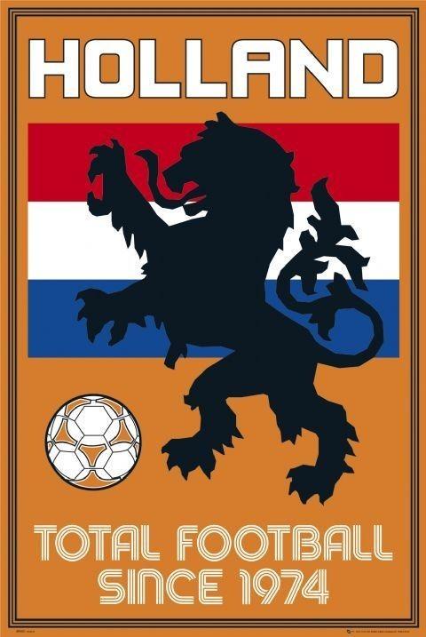 Plakat Holland - total football