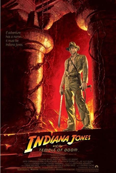 Plakat INDIANA JONES - temple of doom one sheet