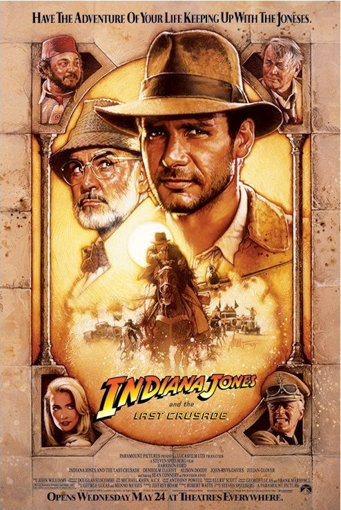 Plakat INDIANA JONES - the last crusade one sheet 2
