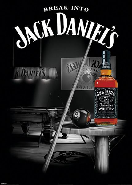 Plakat JACK DANIEL'S - Pool - Billiard