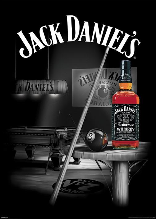 Plakat Jack Daniels - pool rooms