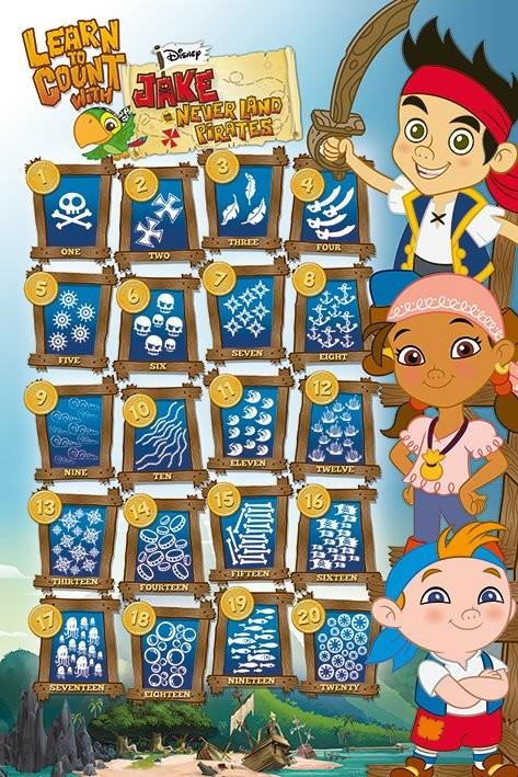 Plakat Jake i piraci z Nibylandii - Learn to Count With