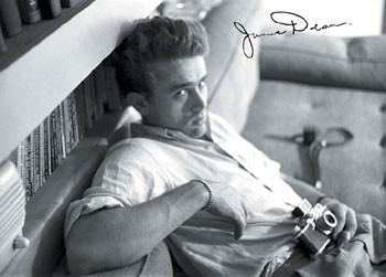 Plakat James Dean - camera b&w