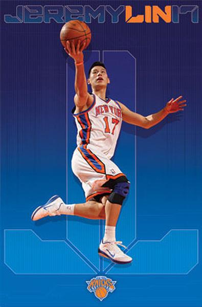 Plakat Jeremy Lin - new york knicks