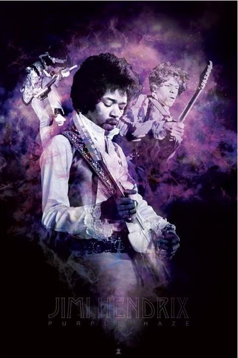 Plakat Jimi Hendrix - purple haze smoke