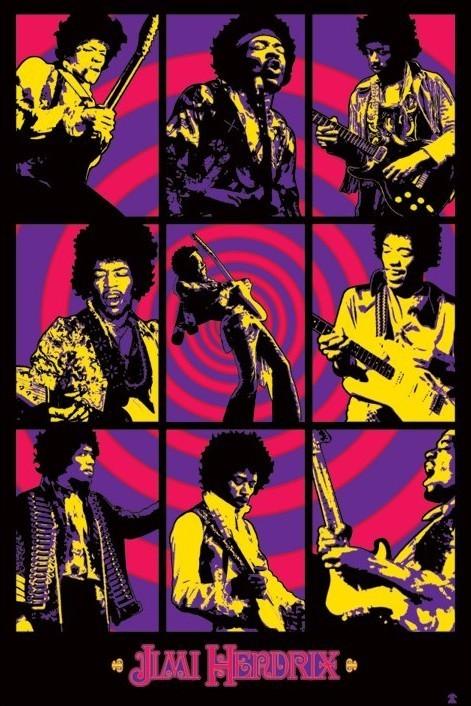 Plakat Jimi Hendrix - purple montage